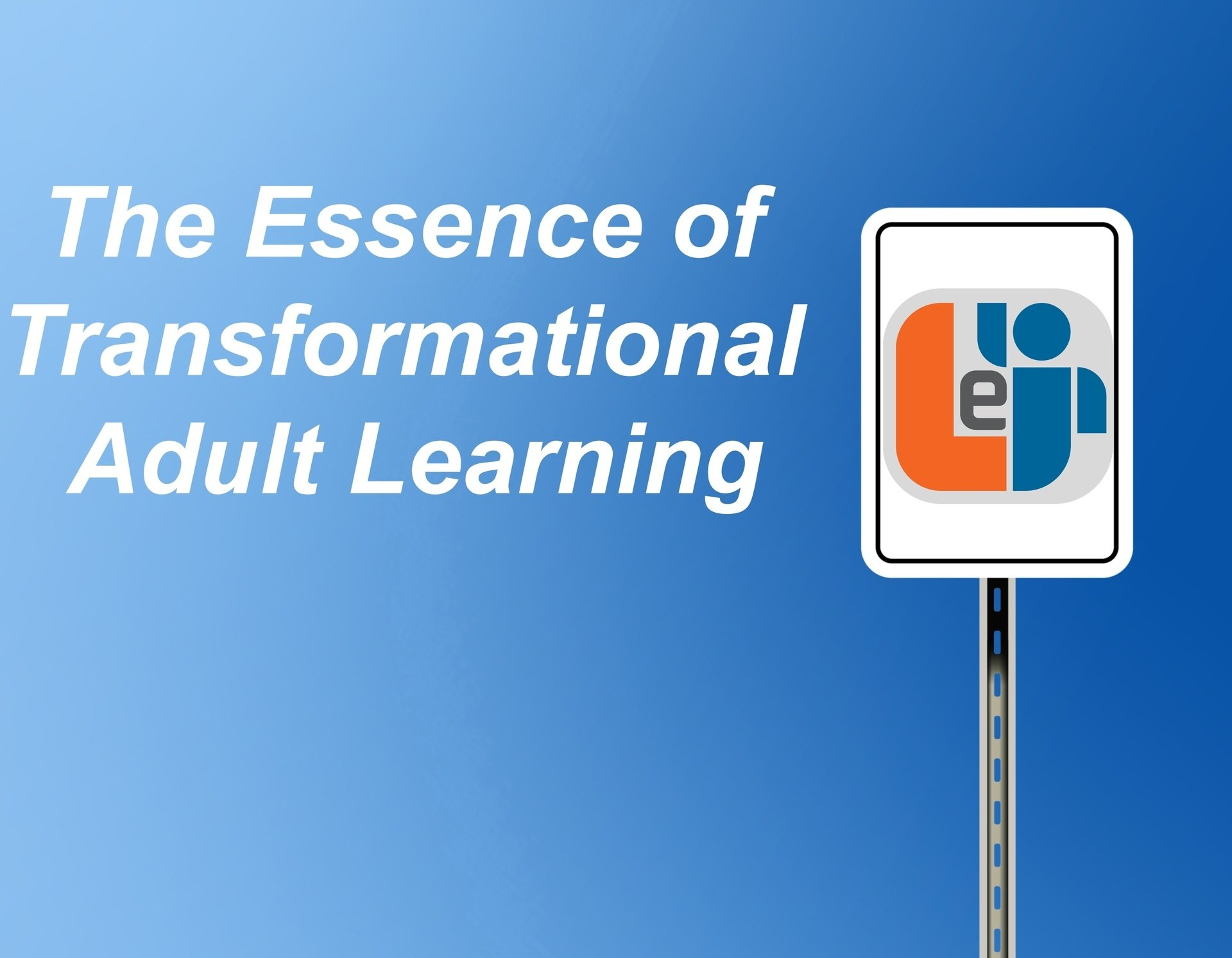 The Essence of Transformational Adult Learning