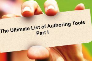 List of Authoring Tools: Part 1
