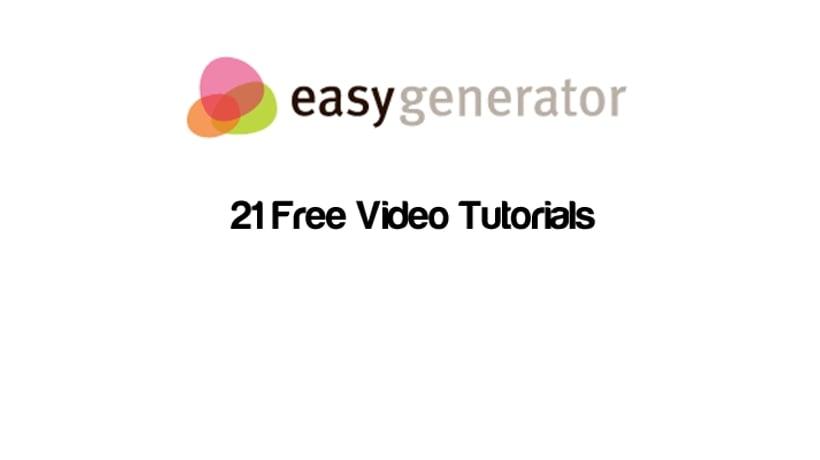 Easygenerator Free Video Tutorials