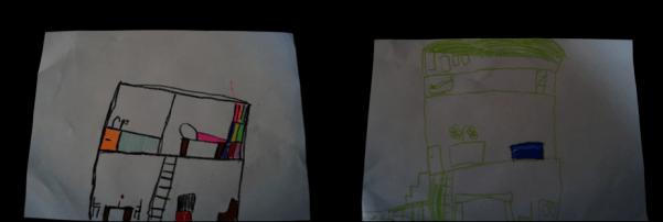 drew a house