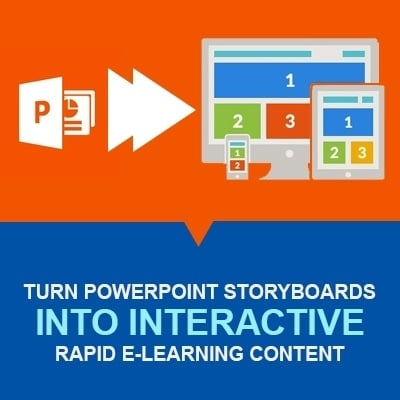 Turn Powerpoint Storyboards Into Interactive Rapid E-Learning