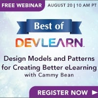 Free Webinar: Design Models and Patterns for Creating Better eLearning
