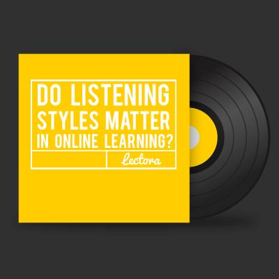 Do Listening Styles Matter in Online Learning?