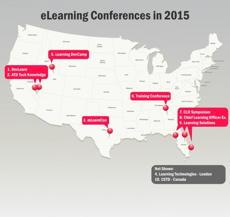 Top 10 eLearning Conferences For Chief Learning Officers in 2015