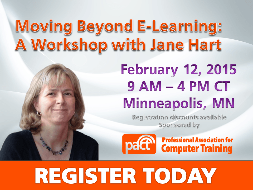 Moving Beyond E-Learning: A Workshop with Jane Hart