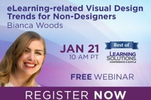 Image for Free Webinar: eLearning-related Visual Design Trends for Non-Designers