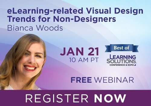 Free Webinar: eLearning-related Visual Design Trends for Non-Designers