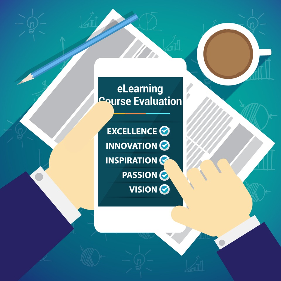 e learning evaluation The evaluation of how effective a course innovation is for learning is generally done at the end of a course, by which time, students may have been leaving in droves due to a poor quality experience to only carry out evaluations only at the end of a course, to satisfy auditing and accreditation requirements for quality, is a dangerous game.