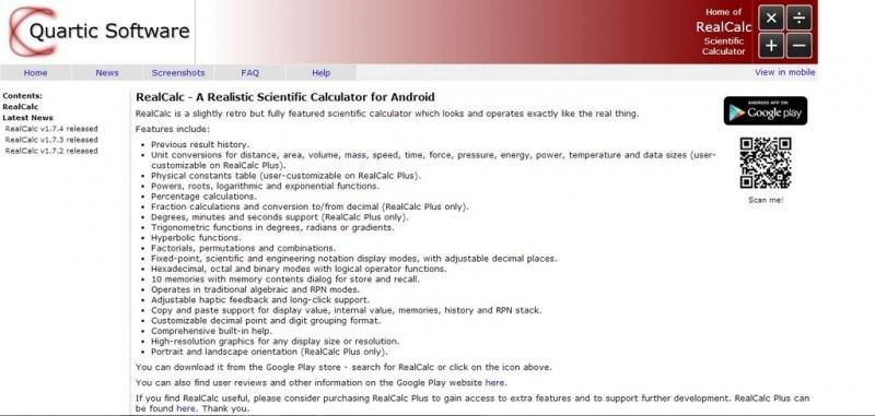 RealCalculator Screenshot