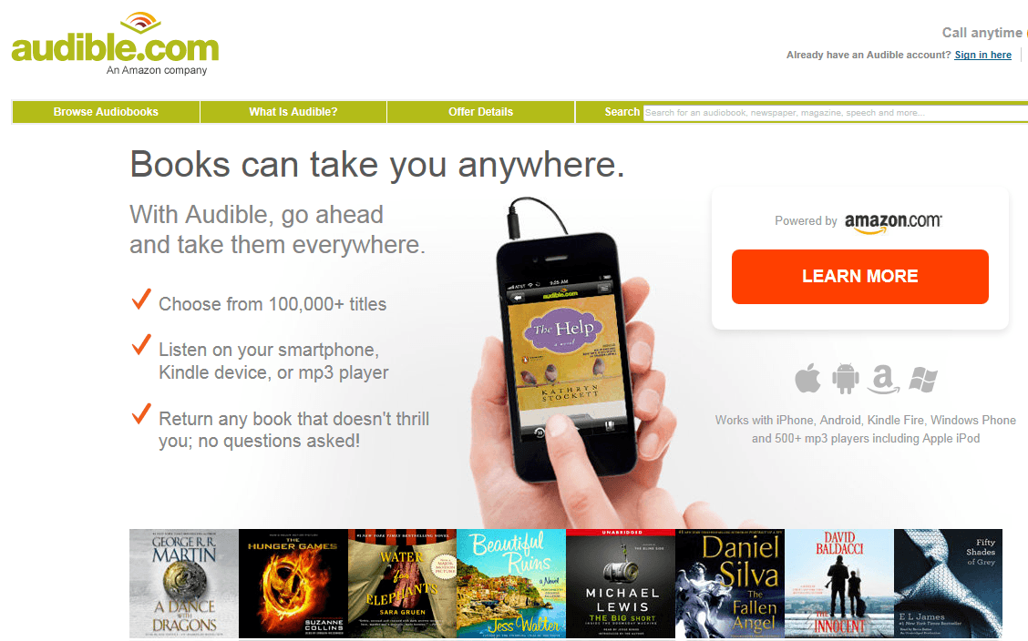 Once you joined Audible's membership, you can browse the website to find the specific audiobook you want to get for free. Then all you need is to add that audiobook to your cart and then purchase it with the free credit you got from the membership.