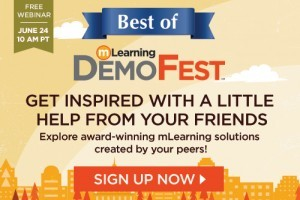 Image for Webinar: Best Of mLearning DemoFest 2015