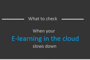 eLearning In The Cloud And Slow Internet: Who'S To Blame?