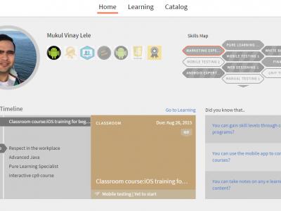Screenshot of Adobe Captivate Prime