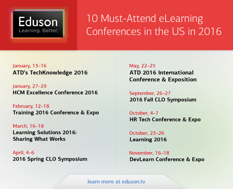 10 Must-Attend eLearning Conferences In The US In 2016