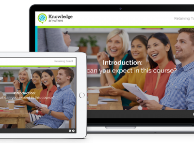 Screenshot of Knowledge Anywhere Course Builder