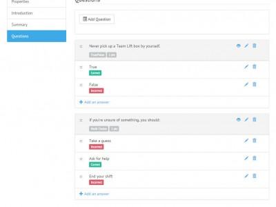Screenshot of KMI LMS
