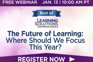 "Image for Free Webinar: The Future Of Learning - ""Where Should We Focus This Year?"""