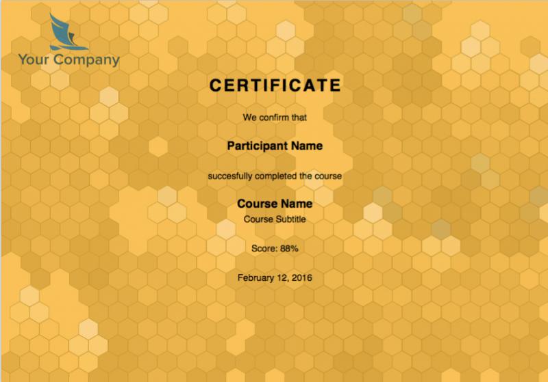 Branded certificate