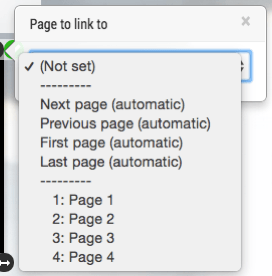 linked pages scenario branching