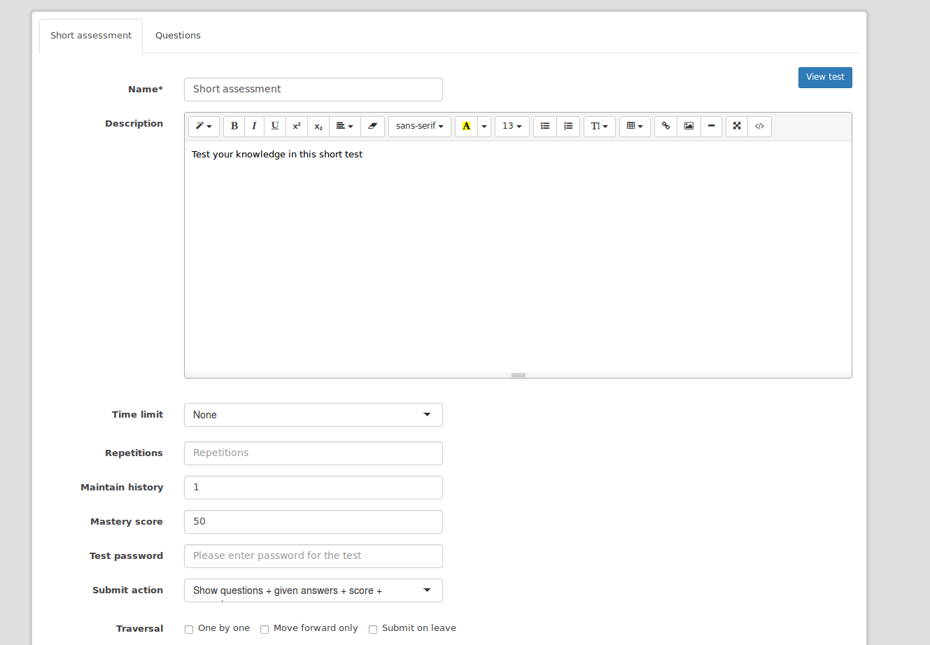 Tests in eFrontPro: how do you create them?