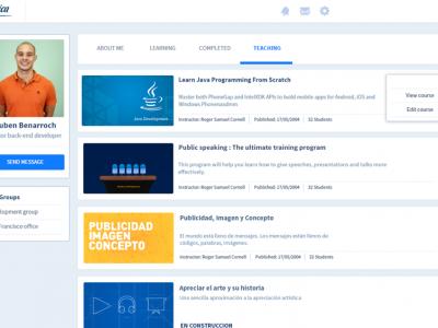 Screenshot of Teachlr Organizations
