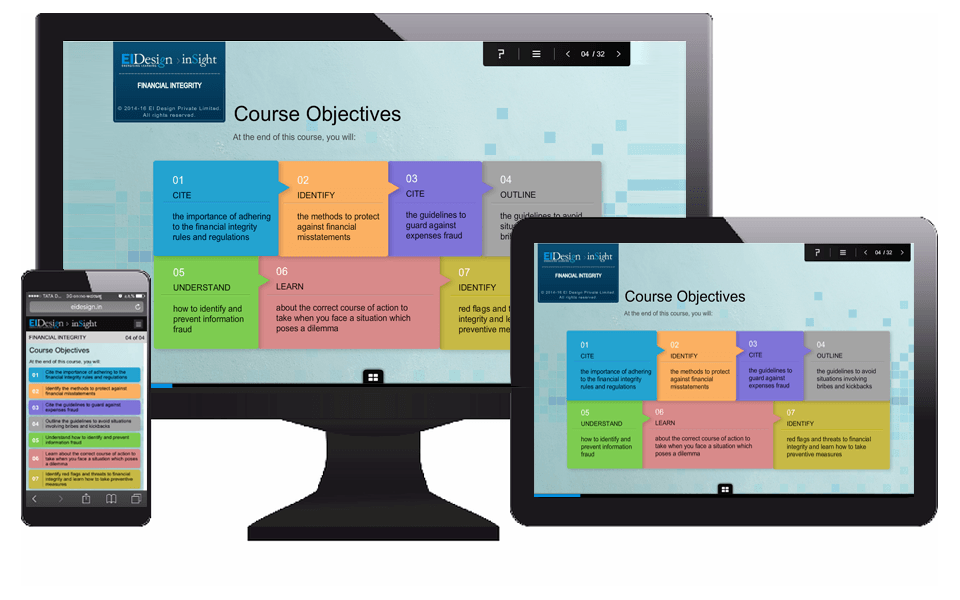 EI Design Mobile Learning Strategy Responsive
