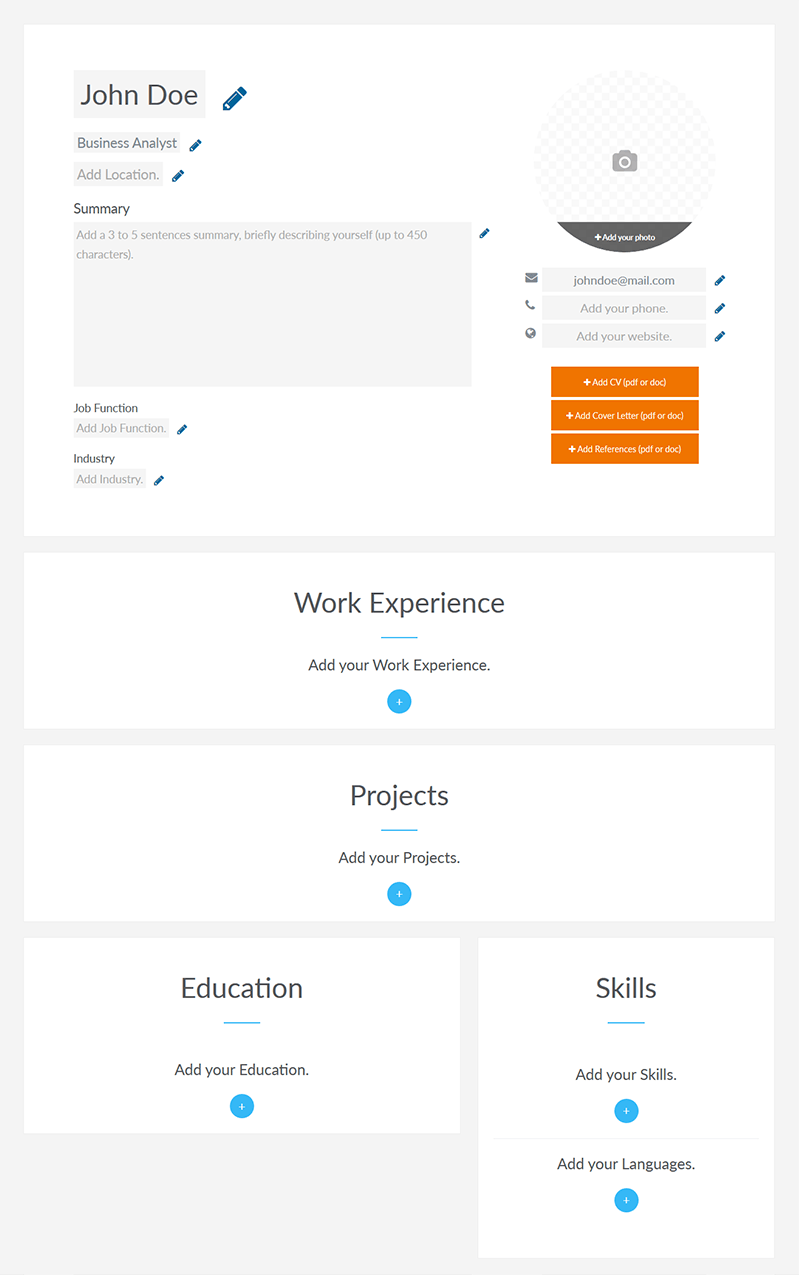 screen shot resume 1