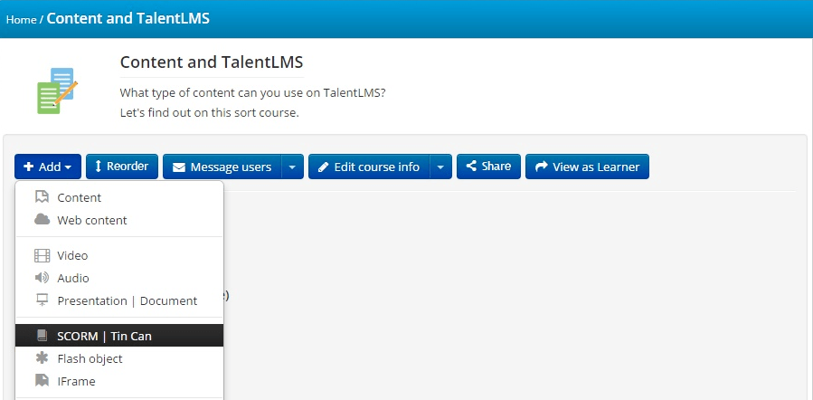 How to import SCORM files into TalentLMS