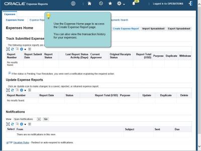 Screenshot of uPerform