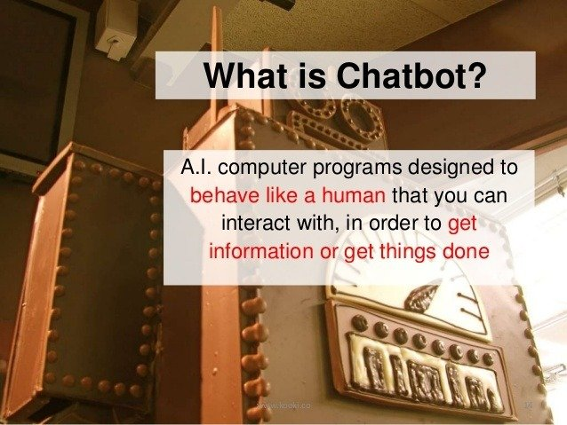 Chatbot Definition: Credit: Teewee Ang