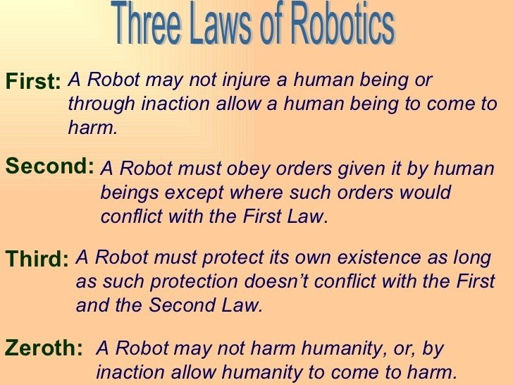 Three Laws of Robotics: Credit: Nrudakova