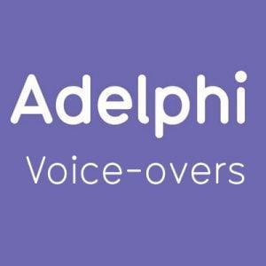 Adelphi Studio: Voice-overs logo