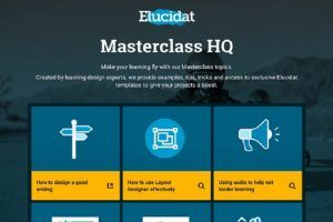 Improve Your Learning Design Skills With Elucidat's Expert-Created Masterclass Topics