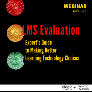 "Learning Technology Experts Team-Up To Present ""Guide To LMS Evaluation"""
