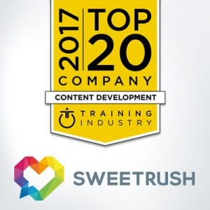 SweetRush Named A Top 20 Content Development Company By Training Industry