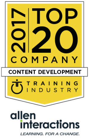 Allen Interactions Named A 2017 Top 20 Content Development Company