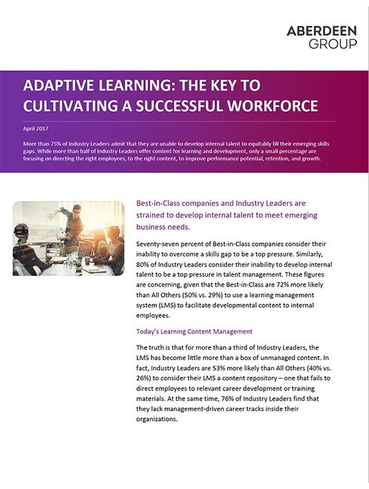 Adaptive Learning: The Key To Cultivating a Successful Workforce