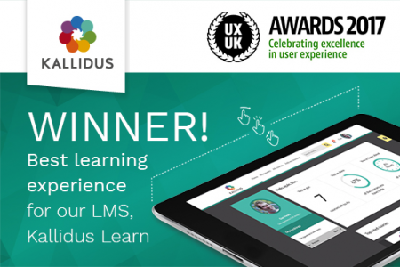 Kallidus Learn Wins UXUK Award For Best Learning Experience
