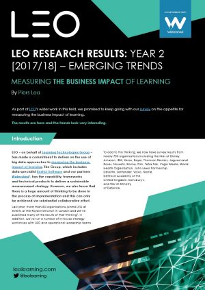 LEO/Watershed Report Reveals Jump In Pressure To Measure Learning's Impact