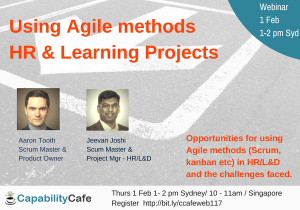Using Agile Methods For HR And Learning Projects