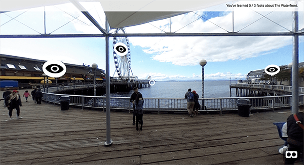 Vr image of waterfront
