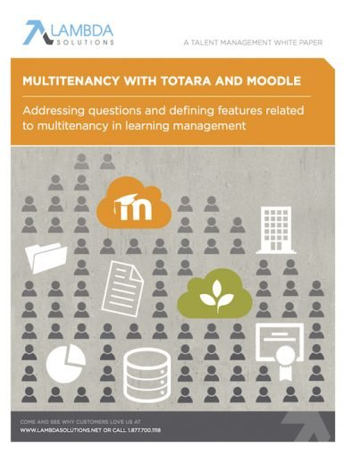 Multitenancy With Totara And Moodle